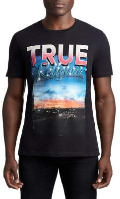 True Religion MENS RETRO SUNSET GRAPHIC TEE