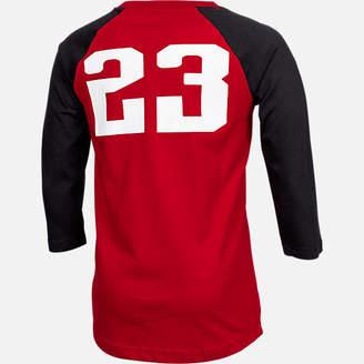 Nike Boys' Air Jordan Retro 9 Raglan Long-Sleeve T-Shirt