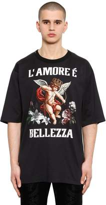 Dolce & Gabbana Oversize Amore È Bellezza Jersey T-Shirt