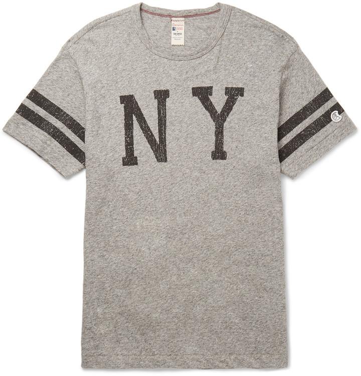 Todd Snyder + Champion Slim-Fit Printed Mélange Cotton-Jersey T-Shirt