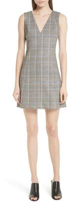 Theory Autumn Plaid A-Line Dress