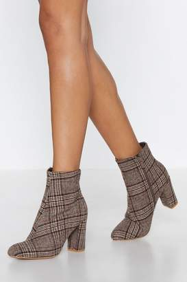Nasty Gal Want You So Plaid Boot