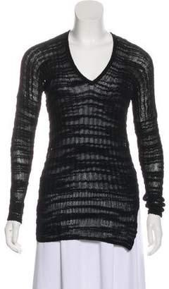 Helmut Lang Sheer Knit Long Sleeve Sweater