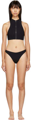 Stella McCartney Black 90s High Leg Bikini