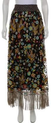 Alice + Olivia Embellished Maxi Skirt