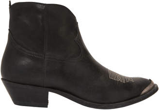 Golden Goose Young Western Black Booties