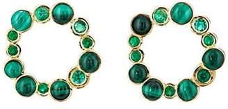 Pamela Love Fine Jewelry Women's Paillette Front-Facing Hoop Earrings - Green
