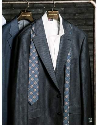 Alexander Julian TAKA-Q 【大きいサイズ】 Marzotto(マルゾット)クラシカルストライプ紺KB体スーツ