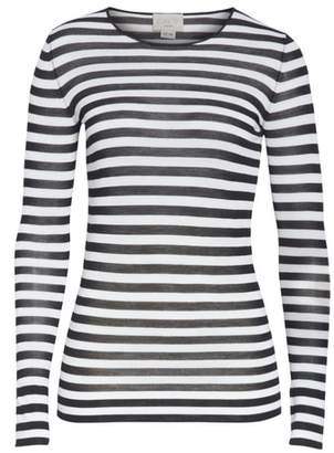 Jason Wu GREY Stripe Featherweight Merino Wool Top