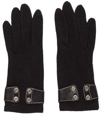 Longchamp Wool-Blend Gloves