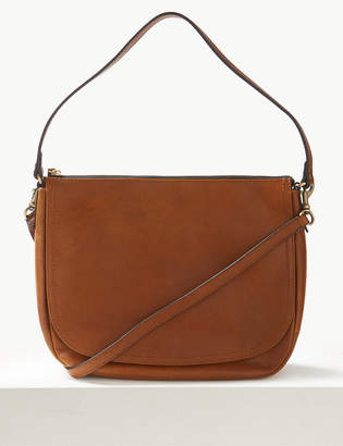M&S CollectionMarks and Spencer Leather Saddle Shoulder Bag