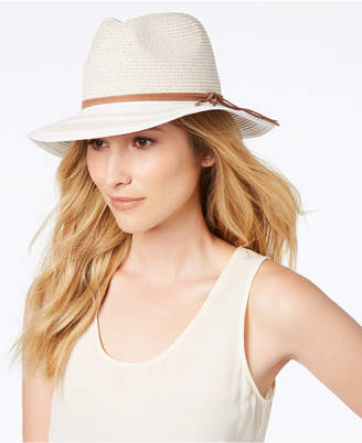 INC International Concepts I.N.C. Striped-Brim Panama Hat, Created for Macy's