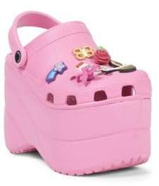 Balenciaga Pink Foam Platforms With Charms