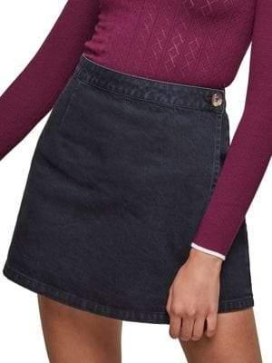 Miss Selfridge Denim Wrap Mini Skirt