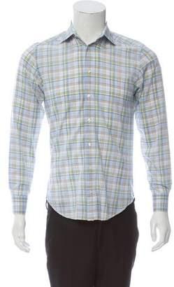 Etro Plaid Dress Shirt