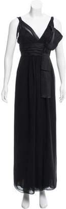 Dolce & Gabbana Satin-Trimmed Maxi Dress