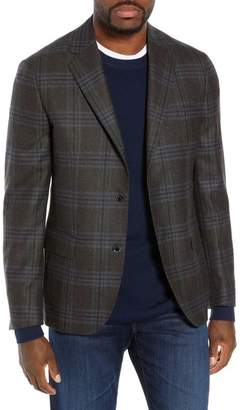 Nordstrom Signature Trim Fit Plaid Wool Sport Coat