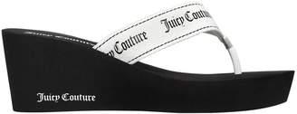 Juicy Couture 60mm Naomi Nylon Wedge Flip Flops