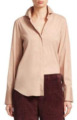 Brunello Cucinelli Poplin Button-Down Blouse