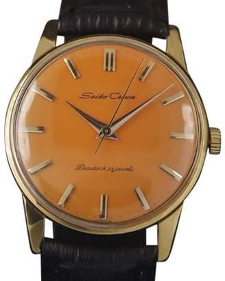 Seiko Crown Gold Plated Manual 35mm Men Dress Watch 1960