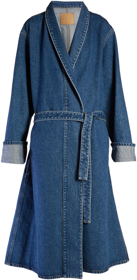 Balenciaga  BALENCIAGA Stone-washed denim coat
