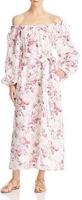 Eleven Paris French Rose Off-the-Shoulder Maxi Dress