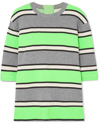 Marc Jacobs Striped Cashmere Sweater - Green