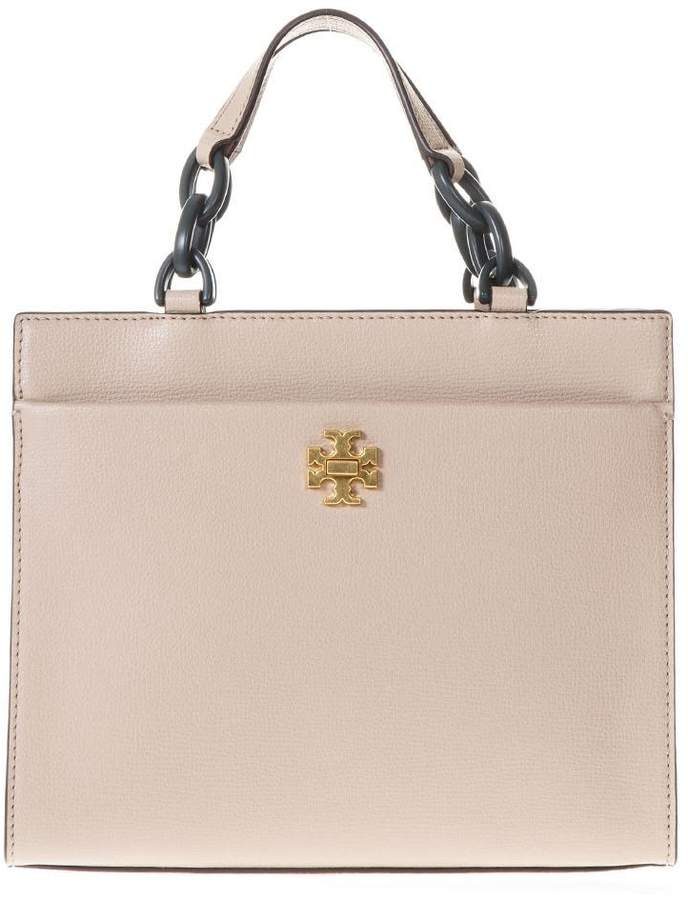 Tory Burch Sand Kira Small Tote Bag In Leather - SAND - STYLE