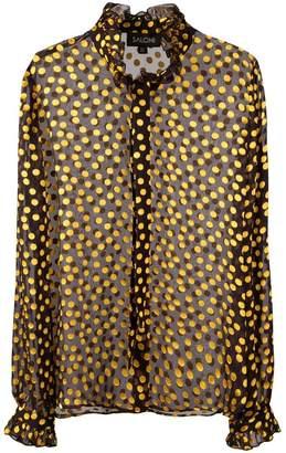 Saloni sheer polka dot shirt