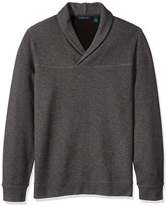 Perry Ellis Men's Big-Tall Big and Tall Solid Heather Pullover Shawl Shirt