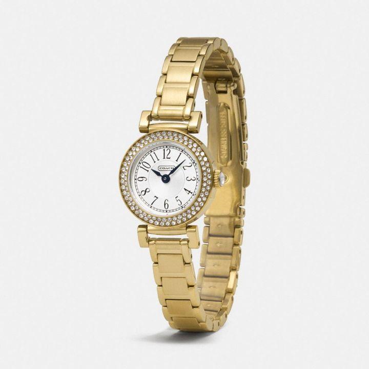 Coach Madison Gold Plated Bracelet Watch