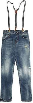 Fred Mello Stretch Denim Jeans W/ Suspenders