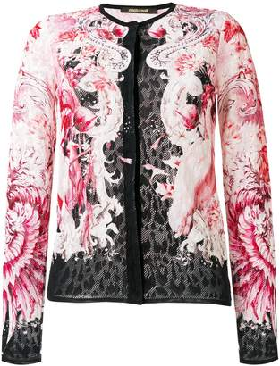 Roberto Cavalli lace fitted jacket