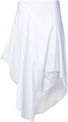 at Farfetch Chalayan asymmetric striped skirt