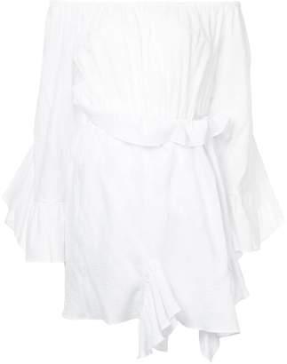 GOEN.J off-the-shoulder shirred dress