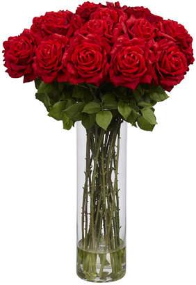 Asstd National Brand Nearly Natural Giant Rose Silk Flower Arrangement