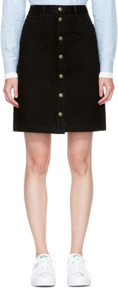 A.P.C. Black Therese Miniskirt $190 thestylecure.com
