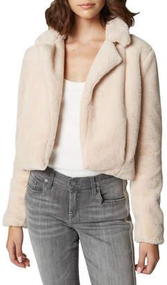 Blank NYC Baby Spice Faux Fur Cropped Open Blazer
