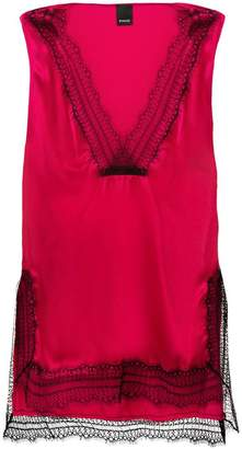 Pinko lace trimmed slip top
