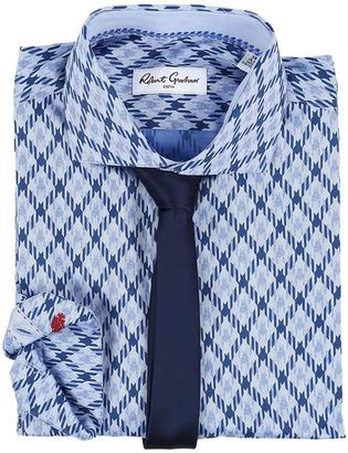 Robert Graham Diamond Dress Shirt $158 thestylecure.com