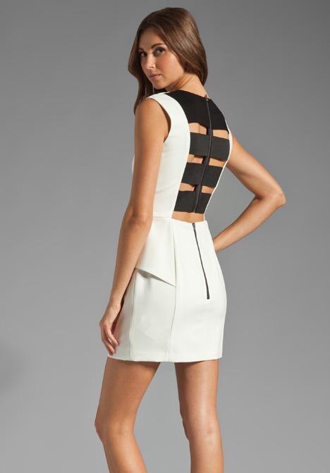 Mason by Michelle Mason Elastic Back Dress