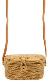 La Regale Weekend Mini Rattan Basket Crossbody