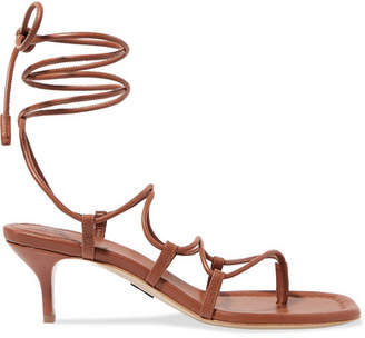Paul Andrew Wrap It Up Leather Sandals - Brown