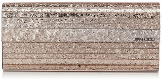 Jimmy Choo SWEETIE Ballet Pink Shadow Coarse Glitter Acrylic Clutch Bag