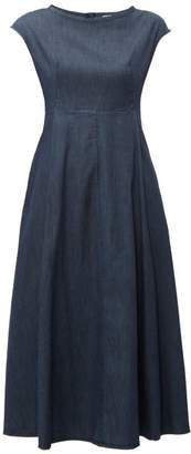 Max Mara Occhio Dress - Womens - Navy