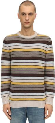 Piacenza Cashmere Striped Cashmere Knit Sweater