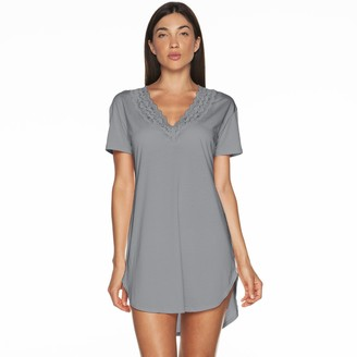 Cosabella Amore Women's Amore Pajamas: Love Lace-Trim V-Neck Sleep Shirt