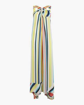 Most Wanted Design by Carlos Souza Recreo San Miguel Column Rainbow Stripe Maxi Dress
