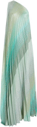 Missoni Pleated One-Shoulder Gown