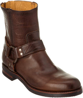 Frye Men's Clinton Harness Backzip Leather Boot